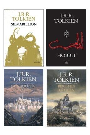 İthaki Yayınları J.r.r. Tolkien Seti 4'lü Kitap; 1-simarillion 2-hobbit 3-gondolin'in Düşüşü 4-beren Ile Luthien 0