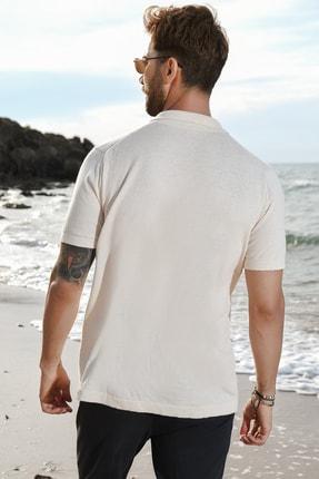 CHUBA Bej Erkek Polo Yaka Triko T-shirt 3