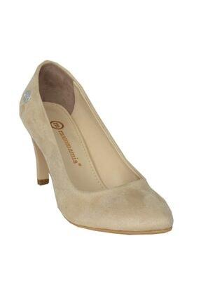Mammamia 3710 Bej Süet Stiletto Klasik Ayakkabı 1