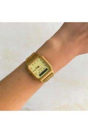 OQQO Gold Çift Göstergeli Saat 0