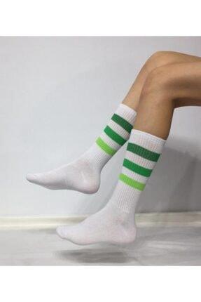 Adel Unisex 3 Renk Şeritli Soket (Uzun) Çorap 0