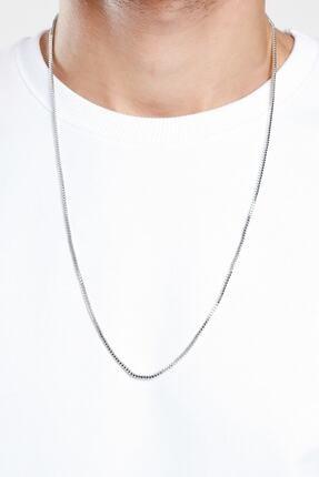 X-Lady Accessories Erkek Gümüş Zincir Kolye 1