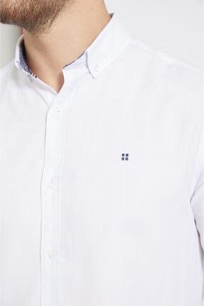 Avva Erkek Beyaz Oxford Düğmeli Yaka Slim Fit Gömlek A02b2287 1