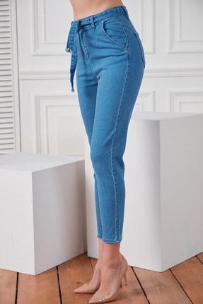 DELICHA Kadın Kuşaklı Mavi Jean 733 3