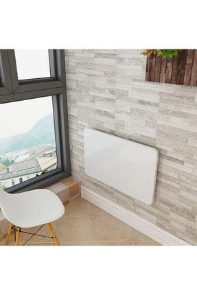 Özlem Mobilya 75x45 Cm Mdf Oval Kenarlı Kırma Katlanır Duvara Monte Çalışma Masası 3