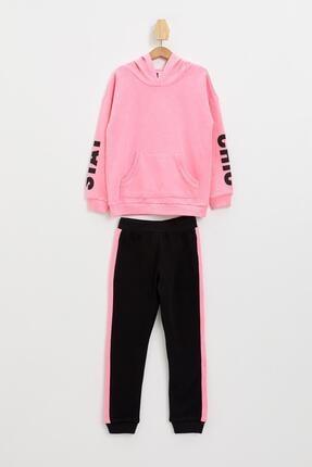 Defacto Kız Çocuk Baskılı Sweatshirt Ve Jogger Eşofman Takım 0