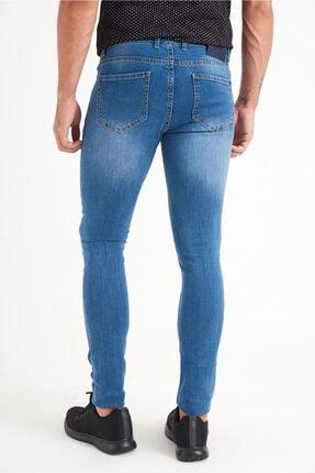 Avva Erkek Mavi Slim Fit Jean Pantolon A01y3570 3