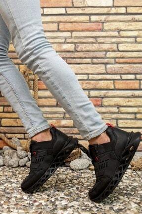 Riccon Siyah Kırmızı Erkek Sneaker 00122021 1