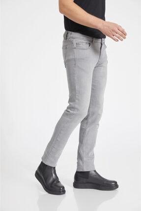 Avva Erkek Gri Slim Fit Jean Pantolon A02y3578 2
