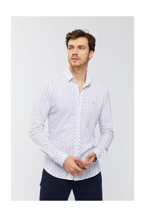 Avva Erkek Kırmızı Baskılı Klasik Yaka Slim Fit Gömlek A91y2138 0