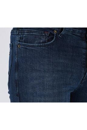 DİFRANSEL Erkek Koyu Lacivert Düz Slim Fit Likralı Dar Paça Kot Pantolon-7 2