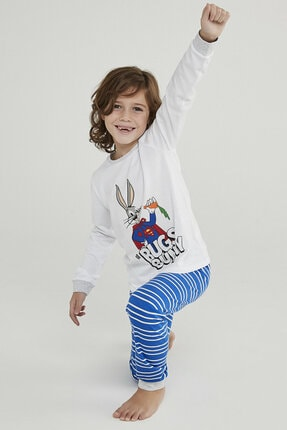 Penti Çok Renkli Erkek Çocuk Super Bunny 2li Pijama Takımı 0