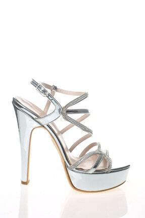 Çnr&Dvs Gümüş Ayna S Taş Kadın Abiye Ayakkabı 930715cnr 1