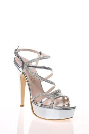 Çnr&Dvs Gümüş Ayna S Taş Kadın Abiye Ayakkabı 930715cnr 2