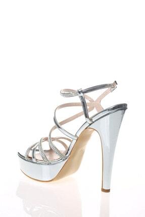 Çnr&Dvs Gümüş Ayna S Taş Kadın Abiye Ayakkabı 930715cnr 3