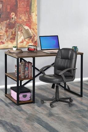 Morpanya Metal Çalışma Masası Laptop Bilgisayar Masası 2 Raflı Ders Ofis Çalışma Masası 60x120 Ceviz 2