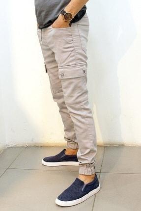 Twister Jeans Cold 9138 Gabardin Beli Ve Paçası Lastikli Kargo Pantolon Gri 2