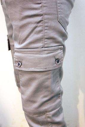 Twister Jeans Cold 9138 Gabardin Beli Ve Paçası Lastikli Kargo Pantolon Gri 3