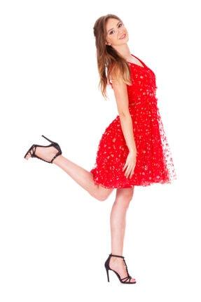 aşkın göksu Tül Işlemeli Kırmızı Kısa Abiye Elbise 2