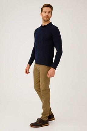 İgs Erkek Lacivert Standart Polo Yaka Sweatshirt 3