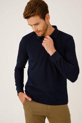 İgs Erkek Lacivert Standart Polo Yaka Sweatshirt 4