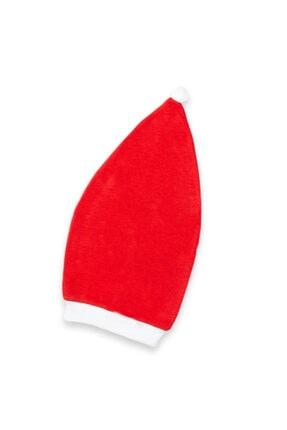 Vipbebe Geyik Baskılı Kırmızı Yılbaşı Şapkalı Bebek Çıçıtlı Body 4