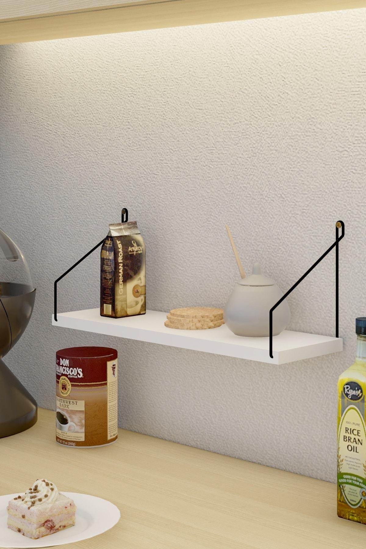 Catchme Duvar Rafı Kitaplık Mutfak Banyo Yaşam Alanı 3 Lü Set 15x55 Cm