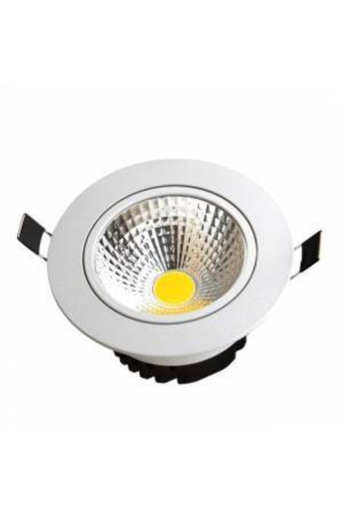 Mb 10 Adet 5 Watt Beyaz Gövde Günışığı Renk Gömme Tavan Spot Lambası Armatür Driverli