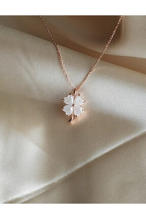 AME SOEUR 925 Ayar Gümüş White Four Leaf Clover 1