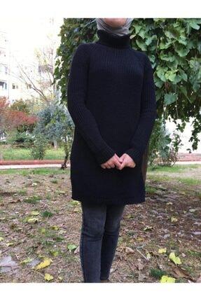 Hatiç Store Kadın Siyah Renk Boğazlı Tesettür Triko Tunik & Kazak 3