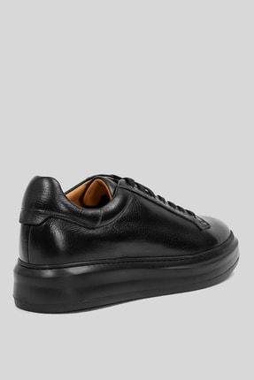 Lufian Plaın Deri Sneaker Siyah 2