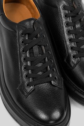Lufian Plaın Deri Sneaker Siyah 3