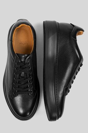 Lufian Plaın Deri Sneaker Siyah 4