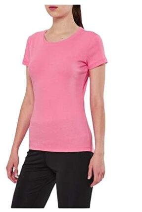 15s-2210 Pembe Penye Bayan T-shirt resmi