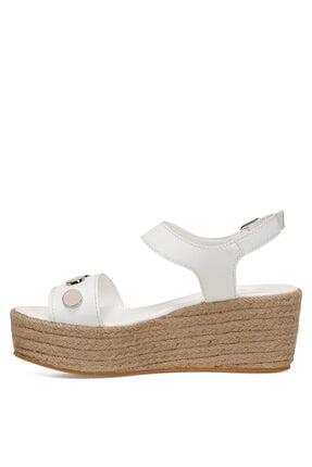 Nine West VALADON Beyaz Kadın Dolgu Topuklu Sandalet 100526220 3