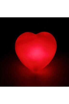 DDTREND 2 Adet Dekoratif Led Işıklı Pilli Kalp Şeklinde Lamba Parti Organizasyon Süs Dekor 7cm Piller Dahil 2