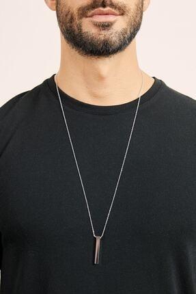 X-Lady Accessories Erkek Gümüş Kaplama Çubuk Kolye 0