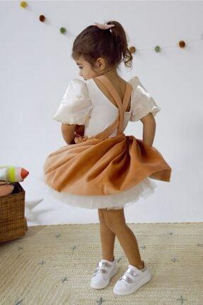Happy & Mini Rosa Kadife Elbise Soft Pembe 1