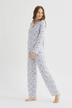 Penti Çok Renkli Blue Blossom Pijama Takımı 2