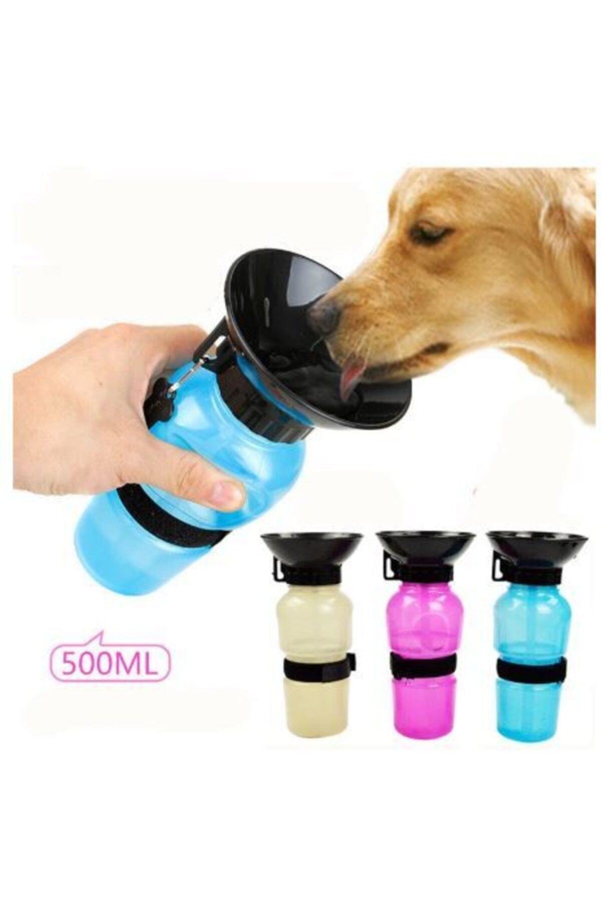 500ml Köpek Seyahat Suluğu Su Şişesi (Mavi)