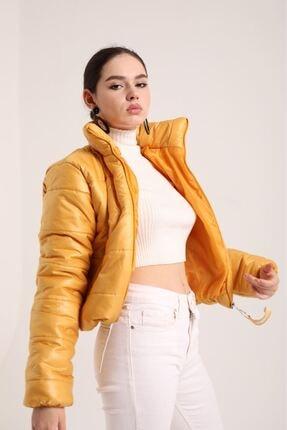 Kokosh Fashion Şişme Kısa Mont Sarı 2