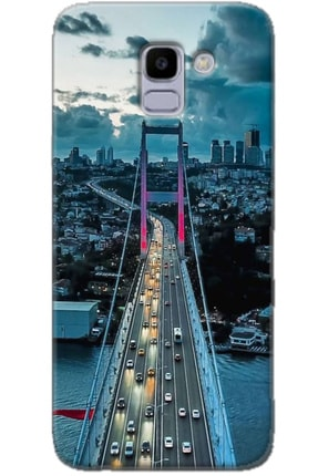 Noprin Samsung Galaxy J6 Kılıf Silikon Baskılı Desenli Arka Kapak 0