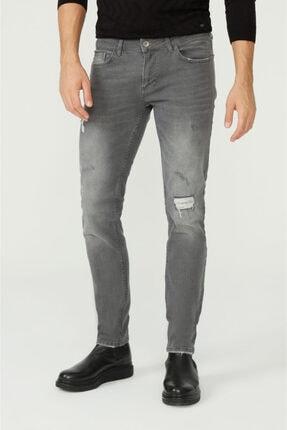 Avva Erkek Gri Slim Fit Jean Pantolon A02y3599 1