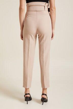Z GİYİM Kadın Taş Kemerli Yüksek Bel Kumaş Pantolon 4