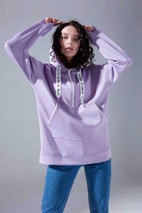 Mizalle Youth Neon Karyoka Sweatshirt (Lila) 0
