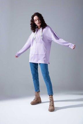 Mizalle Youth Neon Karyoka Sweatshirt (Lila) 2