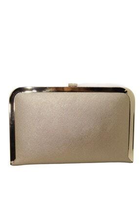 Tablet Altın Prada Abiye Çanta WEEM0121