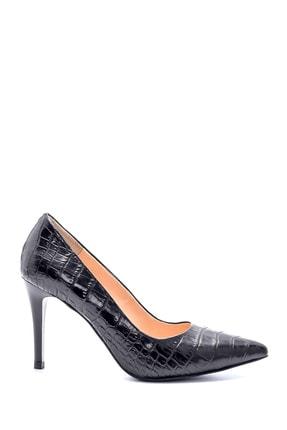 Derimod Kadın Deri Kroko Desenli Stiletto 0