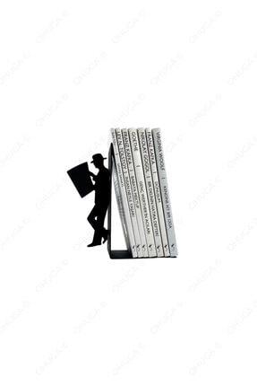 ohuga Metal Kitap Tutucu Gazete Okuyan Adam Figürlü Kitap Desteği, Dekoratif Kitaplık 0