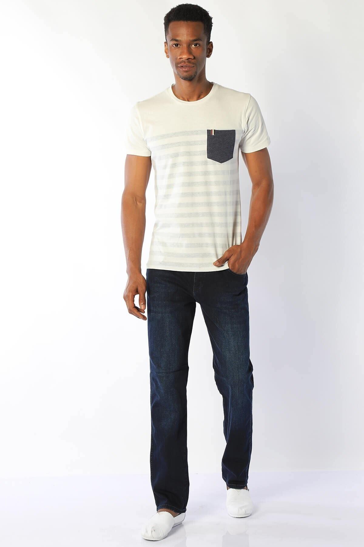 Erkek Regular Fit Yüksek Bel Pantolon Vegas 132-142 Ba Lacıvert